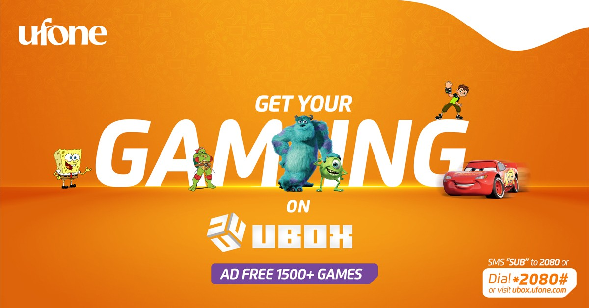 UBox is launched by Ufone to improve the Gaming Ecosystem in Pakistan.